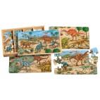Dřevěné puzzle 96 dílků Dinosauři