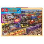 0994 Dřevěné puzzle 96 dílků Vlaky