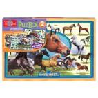 9910 Drevené puzzle 96 dielikov Koní