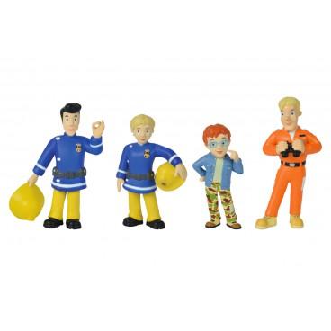 Požárník Sam - set figurek 2 (Norman, Tom, Elvis, Penny)