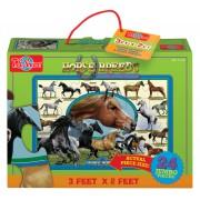 Podlahové puzzle 24 dílků Koně
