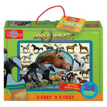 1143 Podlahové puzzle 24 dílků Koně