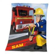 Požiarnik Sam fleece deka 130/160 cm