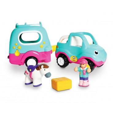 Polly autíčko s přívěsem pro poníky